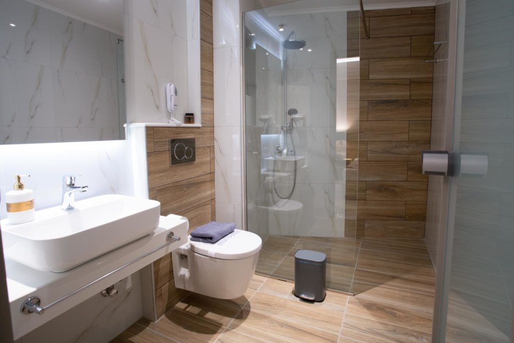 Double Room Bathroom Marvel Deluxe Rooms Heraklion Crete