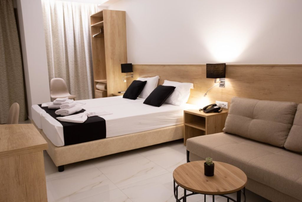 Double Room Bed 2 Marvel Deluxe Rooms Heraklion Crete