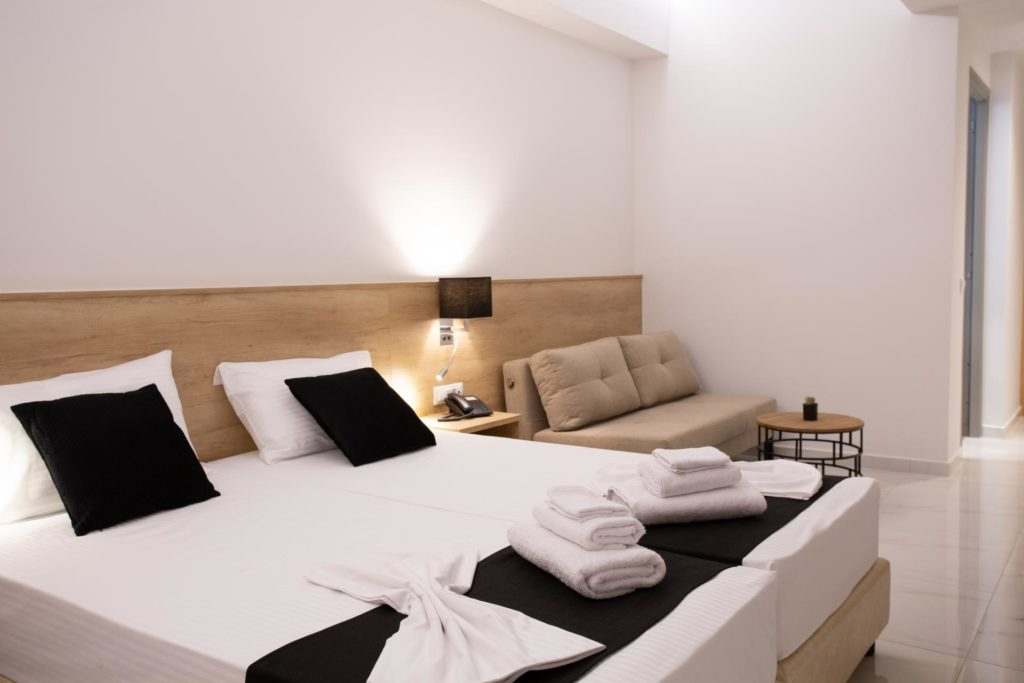 Double Room Bed 4 Marvel Deluxe Rooms Heraklion Crete