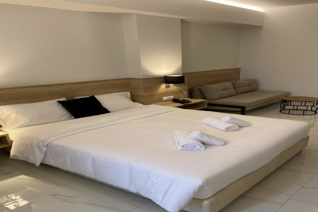 Double Room Bed Marvel Deluxe Rooms Heraklion Crete